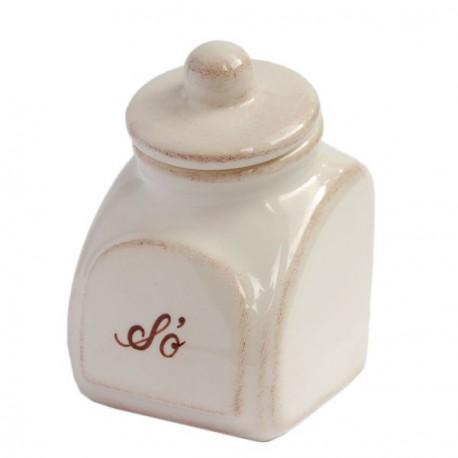 Kerámia fűszertartó kicsi - Romantik natúr