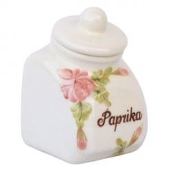 Kerámia fűszertartó kicsi - Romantik rózsás