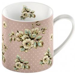 Pöttyös pink bögre - Cottage Flower (Katie Alice)