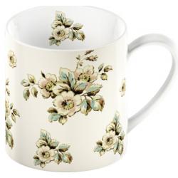 Porcelán bögre virágos