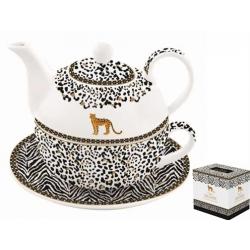 Porcelán egyszemélyes teáskészlet