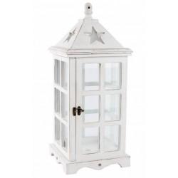 Lantern fa , 50 cm, ablakos Fehér