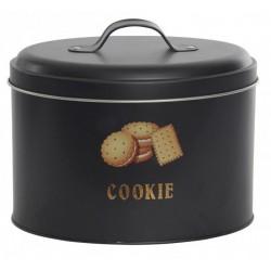 Fém konyhai keksztároló 2400ml, fekete