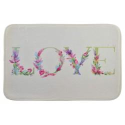 Fürdőszoba szőnyeg 60x40cm, virágos Love
