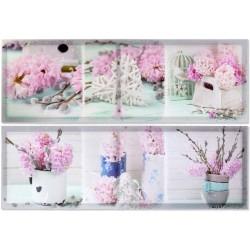 Falikép, 30X90X2cm - Virágos