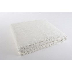 Ágytakaró  pamut 180x260cm fehér dombornyomott