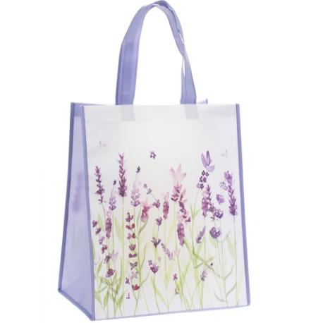 Müanyag bevásárló táska, Levendula