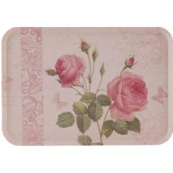 Melamine tálca 45x31cm, Rózsás