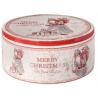 Kerámia doboz kerek, mikulásos, 20x9cm, Merry Christmas