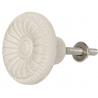 Ajtó fogantyú kerámia, fehér , 4cm