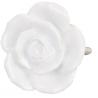 Ajtó fogantyú kerámia, fehér rózsa , 4,5cm