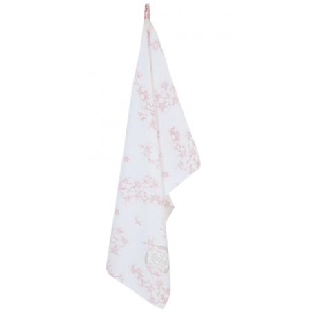 Konyhai kéztörlő 50x85cm, rózsaszín rózsás